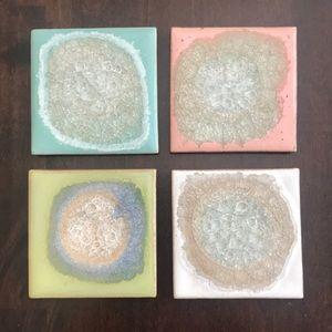 Anthropologie Coasters Set of 4